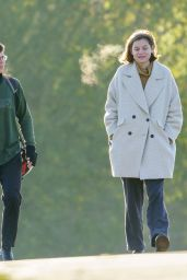 Emma Corrin - Out in a Park in London 11/15/2020