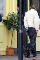 Emma Corrin - Out With Her Dog in London 11/10/2020