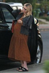 Emma Roberts in a Leopard Print Dress - Shopping in Los Angeles 11/24/2020