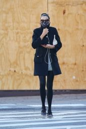 Famke Janssen Chic Street Style - NYC 11/16/2020