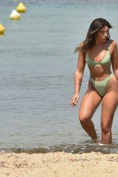 Francesca Allen in a Bikini on the Beach in Turkey - November 2020