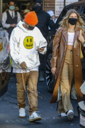 Hailey Bieber and Justin Bieber at Il Pastaio in Beverly Hills 11/19/2020