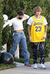 Hailey Bieber and Justin Bieber - Visit Some Friends in Beverly Hills 11/19/2020