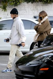 Hailey Bieber and Justin Bieber With a Real Estate Agent in West Hollywood 11/14/2020