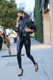 Hailey Bieber Street Fashion - LA 11/20/2020