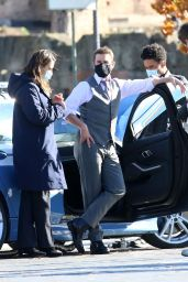 """Hayley Atwell and Tom Cruise - """"Mission Impossible 7"""" Set in Rome 11/21/2020"""
