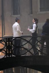 """Hayley Atwell - Filming a Fight Scene on the Set of """"Mission Impossible 7"""" in Venice 11/09/2020"""