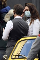 """Hayley Atwell on the Set of """"Mission Impossible 7"""" in Rome 11/24/2020"""