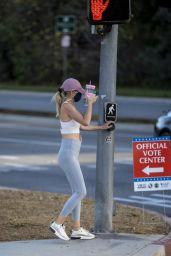 Hayley Roberts in Tights - Calabasas 11/03/2020