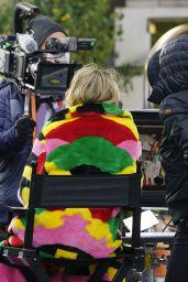 "Heidi Klum - ""Germanys Next Topmodel"" New Season Filming in Front of the Hotel Adlon in Berlin 11/19/2020"