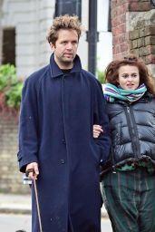 Helena Bonham Carter With Partner Rye Dag Holmboe in North London 11/15/2020