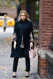 """Hilary Duff - Filming """"Younger"""" in New York 11/11/2020"""