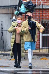 Hilary Duff on a Rainy Day in Brooklyn 11/14/2020