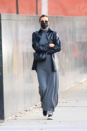 Irina Shayk in a Monochrome Ensemble - New York City 11/06/2020