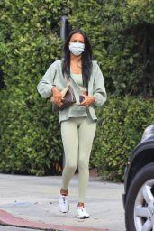 Jasmine Tookes in Crop Top and Leggings - LA 11/05/2020