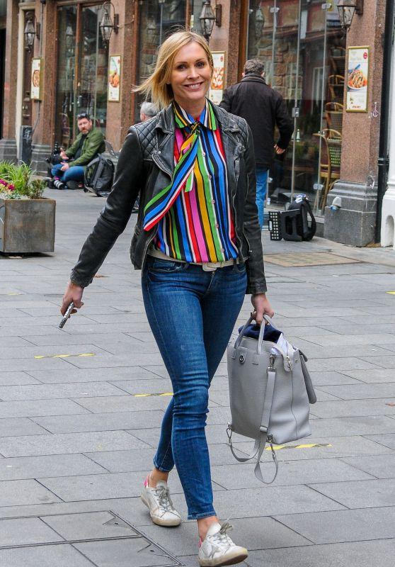 Jenni Falconer - Leaving Global Studios in London 11/10/2020