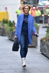 Jenni Falconer - Leaving the Global Studios in London 11/12/2020