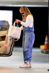 Jennifer Lopez in Casual Outfit - Soho House in West Hollywood 10/31/2020