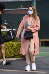 Jessica Alba - Leaving a Tennis Lesson in LA 11/08/2020