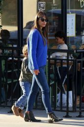 Jordana Brewster at Le Pain Quotidien in Beverly Hills 11/23/2020