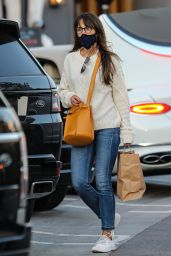 Jordana Brewster - Shopping at Reformation Store in Pacific Palisades 11/12/2020