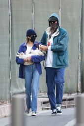 Kaia Gerber and Jacob Elordi in a Park With Kaia