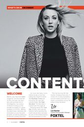 Kaley Cuoco - Foxtel Magazine December 2020 Issue