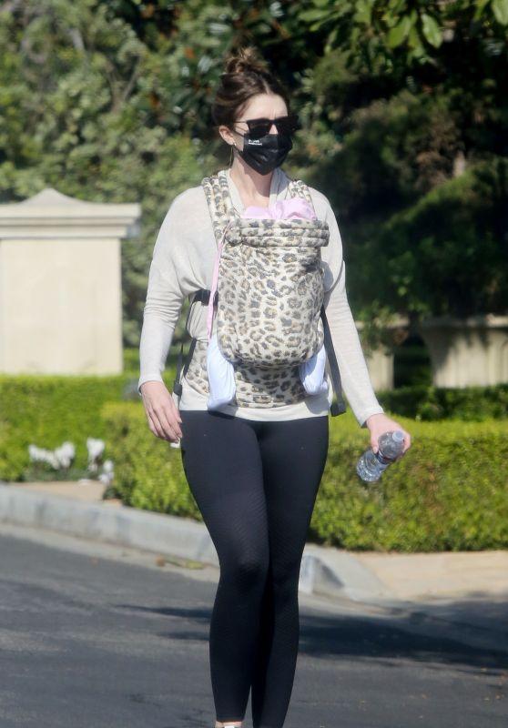 Katherine Schwarzenegger Walks Baby Lyla in LA 11/26/2020