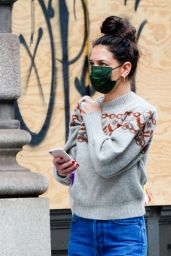 Katie Holmes in Casual Outfit - New York City 11/26/2020