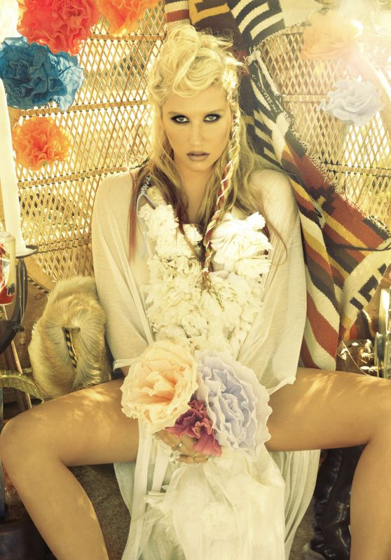 Kesha - Photoshoot for Warrior July/August 2012