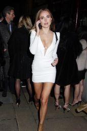Kimberley Garner - Leaving Lou Lous in London 10/31/2020
