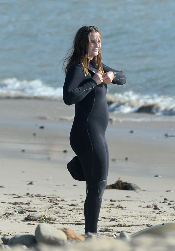 Leighton Meester - Surfing in Malibu 11/20/2020
