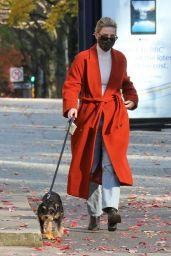 Lili Reinhart - Takes Her Dog For a Walk in Vancouver 11/08/2020