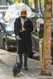 Lili Reinhart - Walking Her Dog in Vancouver 11/14/2020