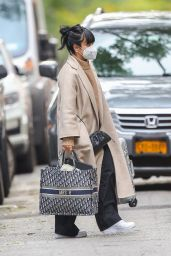 "Lily Allen Carrying a Dior Bag with ""MRS H"" On It - NYC 11/06/2020"