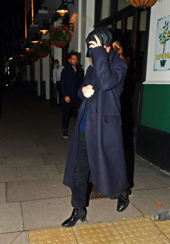 Lily James Night Out - London 11/04/2020