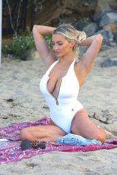 Lindsey Pelas at the Beach in Malibu 11/09/2020
