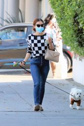 Lucy Hale in a Stylish Outfit - Walking Her Dog in LA 11/12/2020
