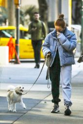 Madelaine Petsch - Walking Her Dog in Vancouver 11/09/2020