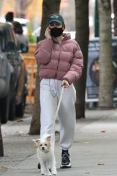 Madelaine Petsch - Walking Her Dog in Vancouver 11/11/2020