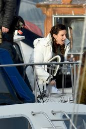 """Michelle Keegan - Filming TV Show """"Brassic"""" in Wales 11/23/2020"""