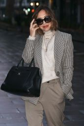 Myleene Klass in a Tweed Jacket and Trousers - London 11/14/2020