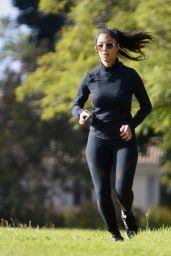 Nicole Scherzinger in Gym Gear Workout With Beau Thom Evans in LA 11/15/2020
