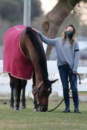 Olivia Wilde - Takes Her Kids to Visit Their Horse in LA 11/14/2020