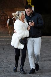 Paige Turley and Finley Tapp on a Morning Stroll in Manchester 11/13/2020