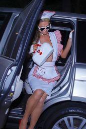 Paris Hilton in a Nurses Outfit - Los Angeles 10/31/2020
