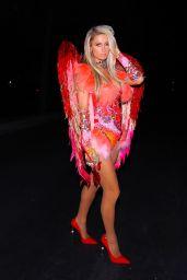 Paris Hilton in Red Angel Outfit - LA 10/30/2020