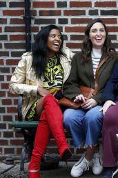 "Renee Elise Goldsberry, Sara Bareilles, Paula Pell and Busy Philipps - ""Girls5Eva"" Set in NYC 11/03/2020"