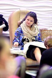Selena Gomez at Salon in Encino (2013)
