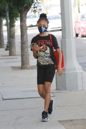 Skai Jackson at the DWTS Studio in Los Angeles 11/05/2020